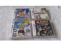 Nintendo DS Lite + 4 games.