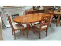 Solid pine extendable dinning table and 4 chairs in fantastic condition can deliver 07808222995