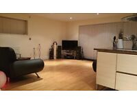 Part furnished double bedroom, own bathroom in 2 bedroom 2 bathroom luxury city centre flat share