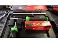 Snap on ratcheting soft grip screwdriver set
