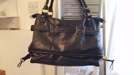 Gorgeous Warehouse Large Leather-Look Black Handbag – Excellent condition, cost £65
