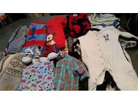 black bag full baby boy clothes 9 TO 12 months
