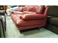Modern Two-seater Red Sofa in Good Condition