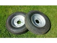 trailer wheels 4.80/400/ 8 in good condition