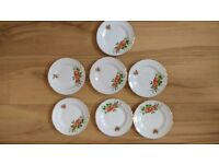Royal Ascot Bone China (Strawberries design, name unknown) - 7 side plates