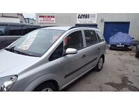 Vauxhall ZAFIRA Life,7 seat MPV,FSH,full MOT,nice clean tidy car,runs and drives well,only 63k