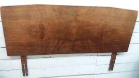 Retro 1970's Solid Wood Headboard