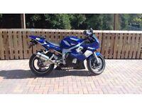 Yamaha R6 Blue 2001