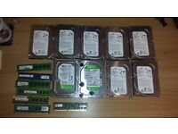 RAM DDR3 1 x 8GB, 3 x 4GB, 1 X 2GB, 2 x 1GB pc parts