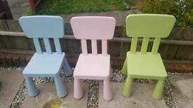Ikea childrens chairs and table