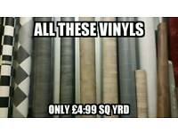 Vinyls Carpets Laminate flooring