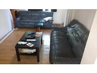 living room set 2 amazing sofas coffee table, carpet and tv stand £350 ONO