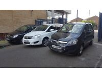 PCO CAR HIRE £110 PER WEEK VAUXHALL ZAFIRA UBER CAR HIRE PCO CAR WITH INSURANCE 7 SEATER PCO RENTAL