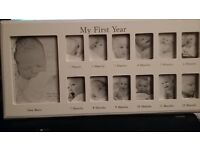 BABY 'MY 1st YEAR' PHOTO FRAME - NEW