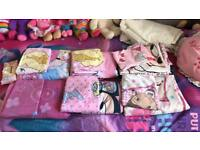 6x girls single bed duvet sets with pillows