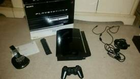 Ps3 console 60gb blu ray control charger