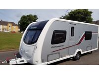 swift Conqueror 570/4berth fixed bed 2012,remote mover/awning/extras