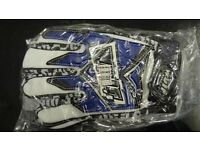 wulfsport gloves motocross motox quad enduro adult size medium in blue