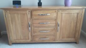 Oak Furniture Land solid oak sideboard