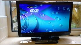 LCD TV Television with Inbuilt Combi DVD. 21 inch. Excellent Condition.