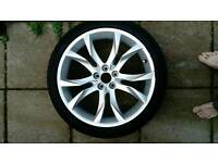 Peugeot Rcz alloy spare / replacement wheel and 235 40 19 continental tyre