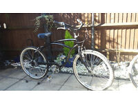 Men's beach cruiser lowrider bike
