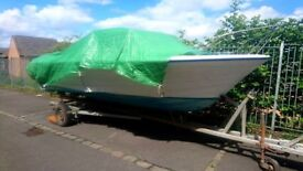 Draco 2000 Vintage Motor Boat - Unfinished Project