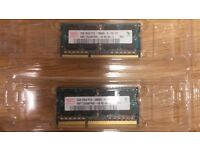 4GB dual channel DDR3 SO-DIMM PC-10600 kit (1333MHz)