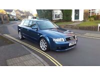2004 AUDI A4 ESTATE 1.9 TDI SPORT BLUE 6 SPEED MANUAL 170 BHP 105,000 MILES MOT AUG 17 2 KEY
