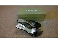 Dune black sandals, size 38 (5), boxed