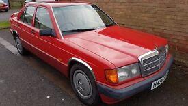 1991 Mercedes 190D 2.5 Diesel Automatic Red Rare FSH retro 190 190e 190d Classic