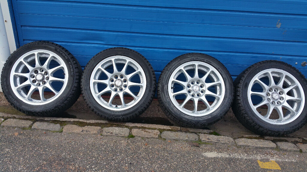 S-line Multi-fit 15 alloy wheels + 4 x tyres 195 50 15 ford ,vauxhall,peugeot,toyota,renault