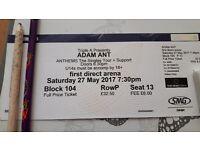 Adam Ant tickets for sale Leeds