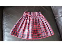 Baby Toddler Girls Tartan Kilt Skirt Age 18 - 24 Months. Elasticated Waist. Nearly New Condition.