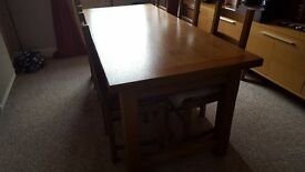 Handcrafted Dining Table & Chairs