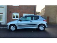 2004 PEUGEOT 206 1.1, NEW 1 YEAR MOT (DEC 2018), FULL SERVICE HISTORY, 3 DOOR HATCHBACK