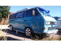 VW T25 Camper van. Diesel, 5 speed, one off fantastic van, mny extras t4 t5 t2 campervan