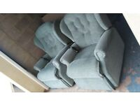 MATCHING PAIR of TWIN MOTOR ELECTRIC RISER RECLINER ARMCHAIRS . rise recline chair DELIVER 25 MILE
