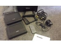 """MINT Condition. 7"""" Dual Portable DVD System (Same movie on 2 screens)"""