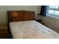 Warren Evans double bed and mattress, excellent condition