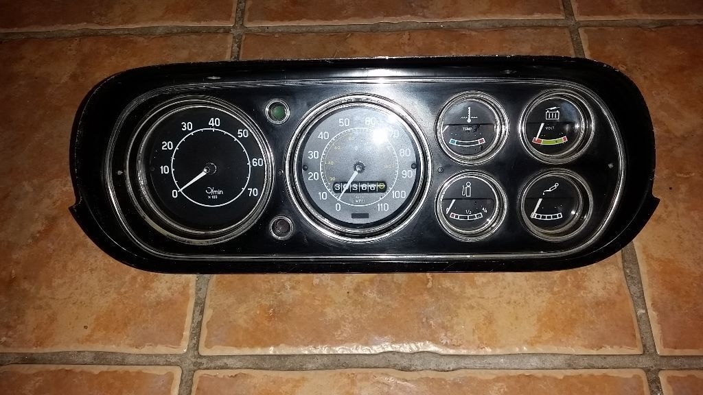 Ford Escort Mk1 6 Dial Dash In Excellent Condition In