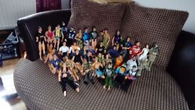 37 Action men and accessories. Includes vehicles. Clothing, weapons and more.