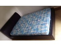 Faux Leather Double Bed Frame And Mattress