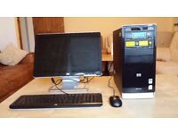 """Well looked after HP Pavilion A6140UK PC & 19"""" Widescreen TFT LCD Monitor & Keyboard & Mouse"""