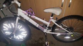 "Girls 24"" Raleigh white and pink bike"