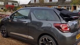 Low mileage, very economical, sporty convertible DS3