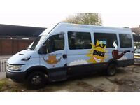 Iveco daily 17 seats minibus diesel miles 43000 1 owner from new