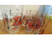 Water jug and glass set