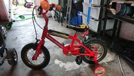 Lighting mcqueen bike