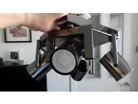 Led black/chrome kitchen spotlights